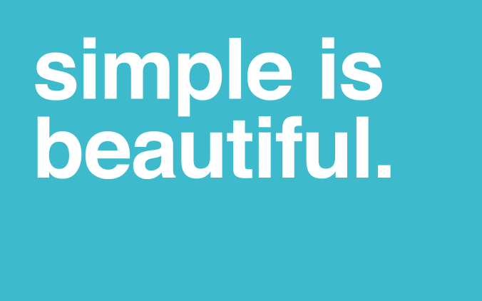 simple-is-beautiful