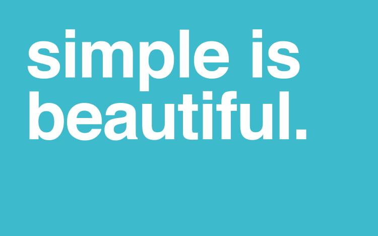 simple-is-beautiful